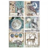 Stamperia A4 Rice Paper - Cosmos Cards - DFSA4387